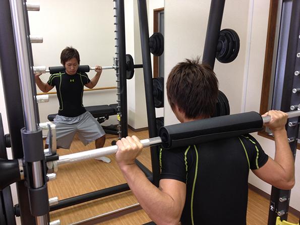 筋力トレーニング指導の様子